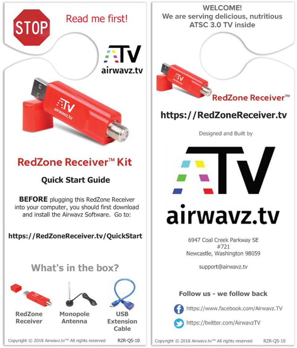 RedZone Receiver Quick Start Guide